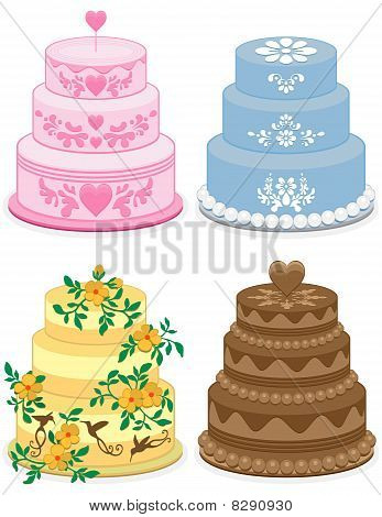 Fancy cakes for occasions.