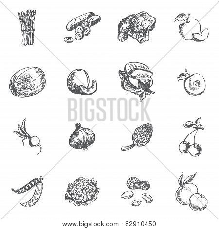 Vegetables, berries and fruits
