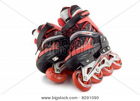 Red Roller Scates