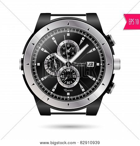 Vector Modern Realistic Luxury, Wrist Watch