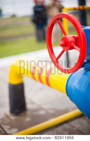Oil Gas Processing Plant Pipe Line Valves