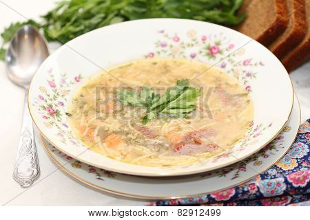 Soup On Chicken Broth