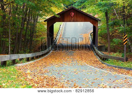 Covered Bridge On Pierce Stocking Scenic Drive Within Sleeping Bear Dunes