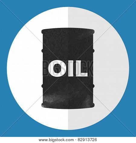 Barrel Of Oil Icon.