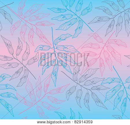 seamless background with falling branches