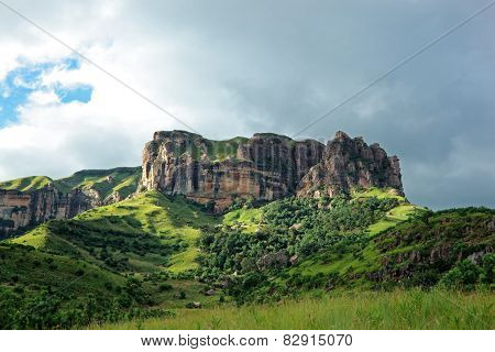 Sandstone rock, Drakensberg mountains, South Africa