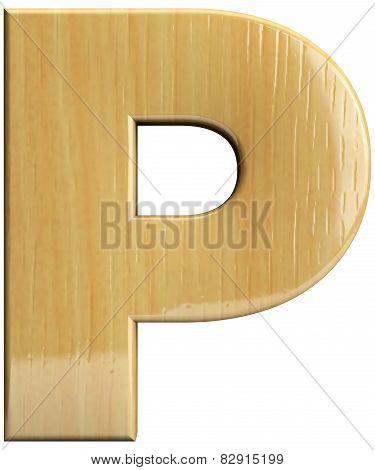 Wooden Letter P