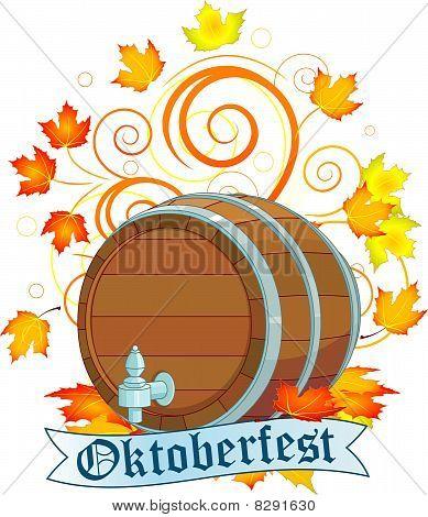 Projeto de Oktoberfest com barril