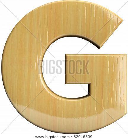 Wooden Letter G