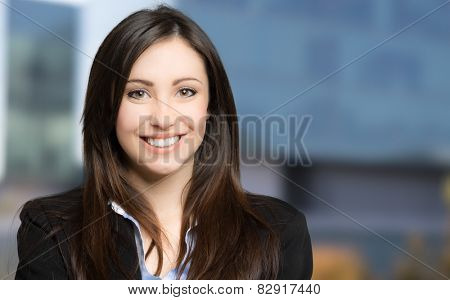 Portrait of a smiling businesswoman outdoor