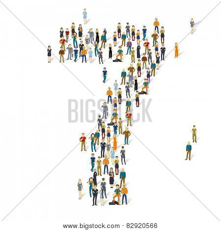 People crowd. Vector figures, 7