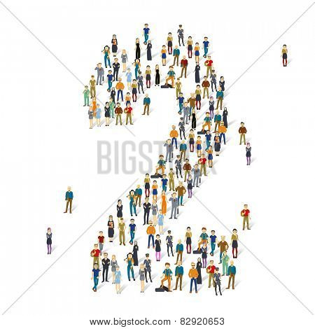 People crowd. Vector figures, 2