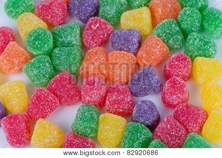 Macro Image of spiced gumdrops