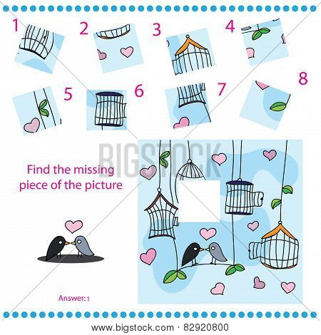 Find missing piece - Puzzle game for Children