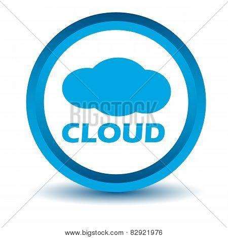 Blue cloud icon
