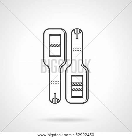 Black line vector icon for pregnancy tests