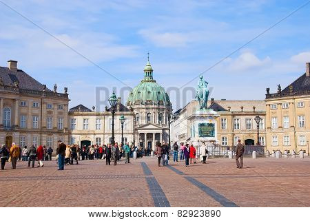 Denmark. Copenhagen. Amalienborg Palace