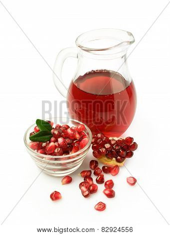 Pomegranate Juice In A Glass Jar
