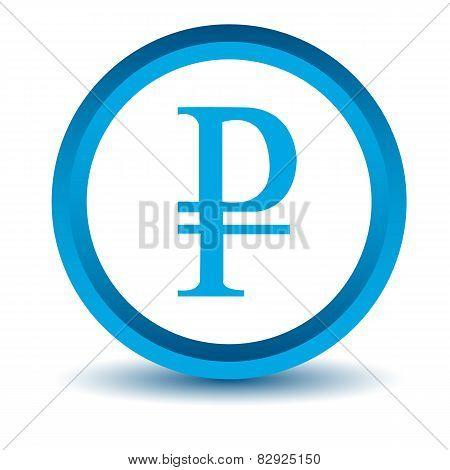 Blue ruble icon
