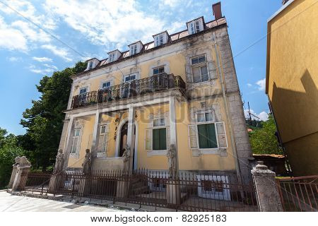 Dilapidated Building In Old City Of Cetinje After War, Montenegro