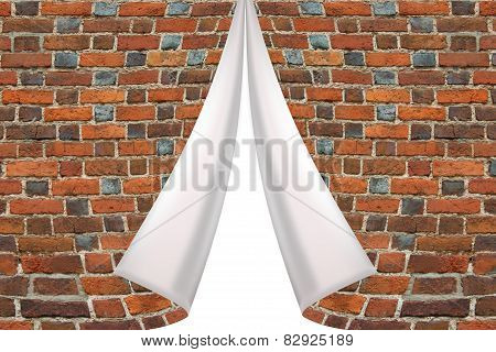 Brick Cuff On The White Background