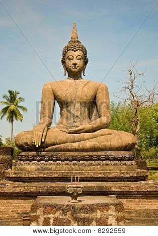 The Buddha Status Of Sukothai Historical Park