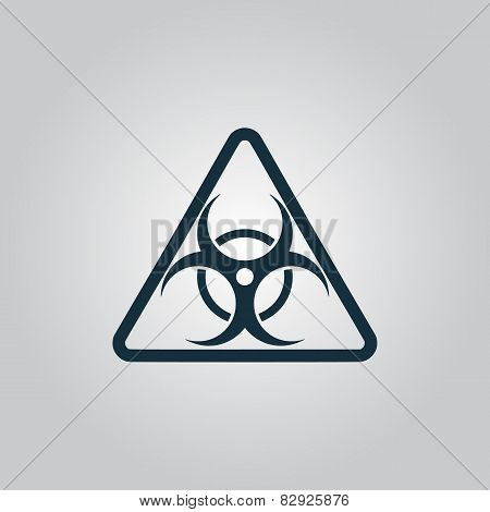 Black biohazard symbol icon isolated