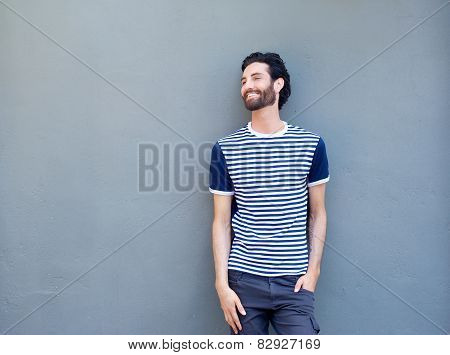 Happy Man With Beard Smiling