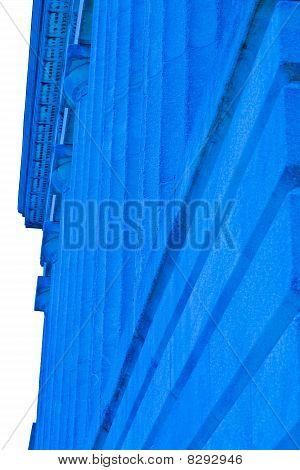 Blue stone building