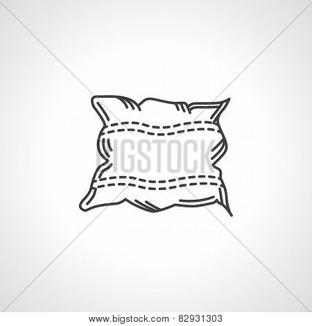 Black vector icon for pillow