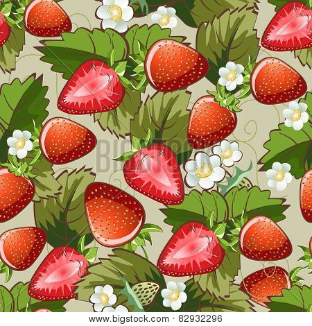 Seamless strawberry pattern