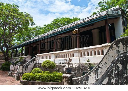 The Old Building Of Koh Wung Palace At Petchaburi  Province,thailand