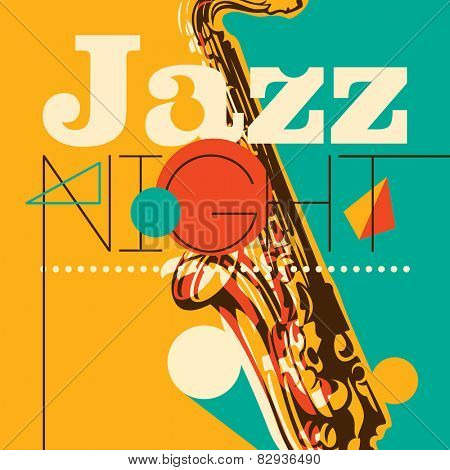 Jazz night background. Vector illustration.