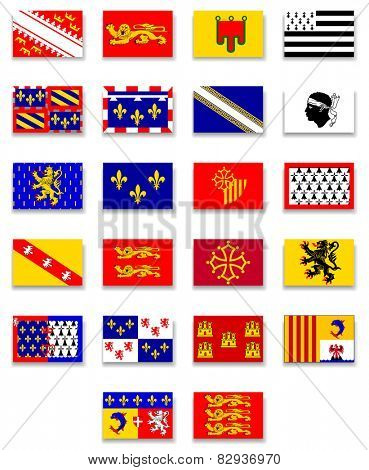 France Region Flag Collection-Complete