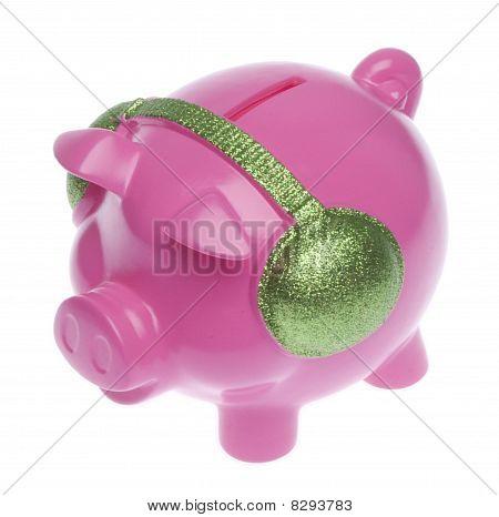 Piggy Bank With Headphones