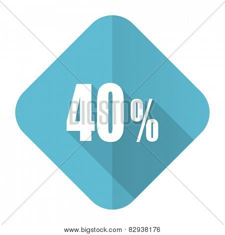 40 percent flat icon sale sign