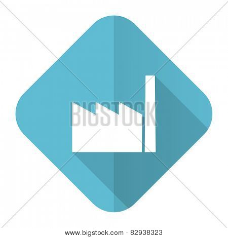 factory flat icon industry sign manufacture symbol