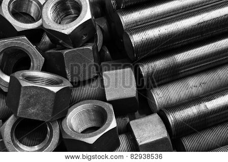 screws and bolts pile