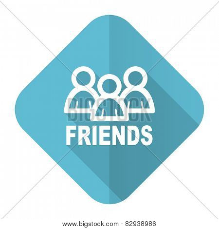 friends flat icon