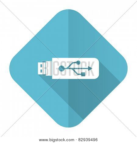 usb flat icon flash memory sign