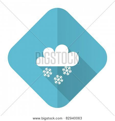 snowing flat icon waether forecast sign