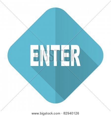enter flat icon