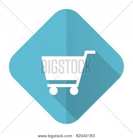 cart flat icon shop sign