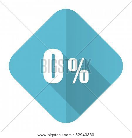 0 percent flat icon sale sign