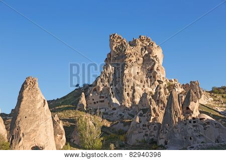 Cappadocia, fantastic rock formation in Goreme national park, Turkey.