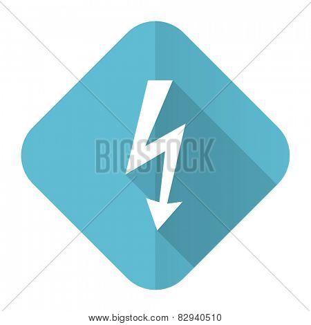 bolt flat icon flash sign