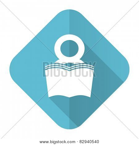 book flat icon reading room sign bookshop symbol