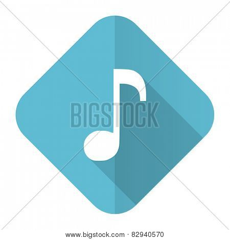 music flat icon note sign
