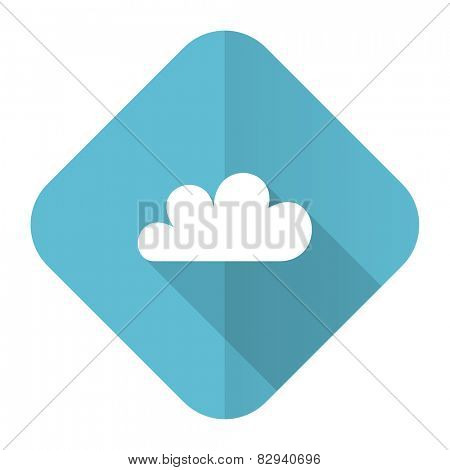 cloud flat icon waether forecast sign