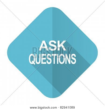 ask questions flat icon
